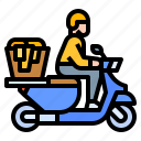deliver, delivery, laundry, scooter, washing