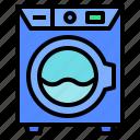 cleans, electronic, laundry, machine, washing