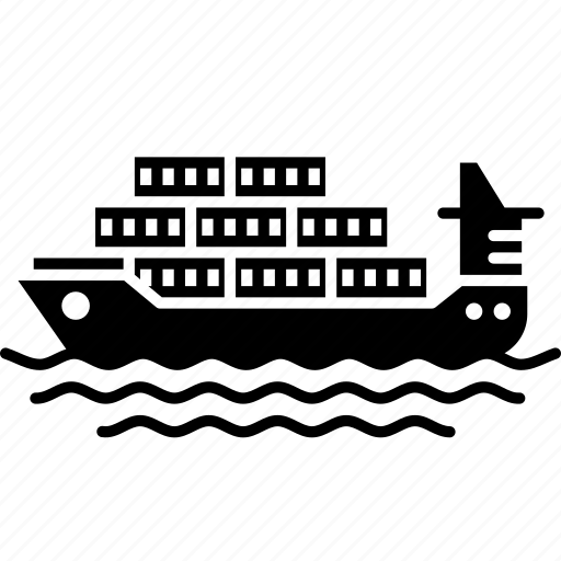 cargo ship, container, logistic, port, ship, shipping icon