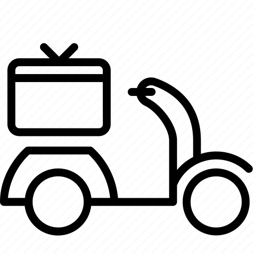 courier, delivery, motor, order, service icon