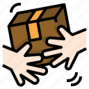 box, courier, delivery, errands, receiving, shipping icon