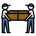 avatar, courier, delivery, man, parcel, people, relocation