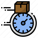 clock, courier, delivery, fast, service, time icon
