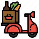 delivery, errand, grocery, scooter, shipping, supermarket