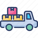 cargo, delivery, pickup, shipping, transport, truck, van