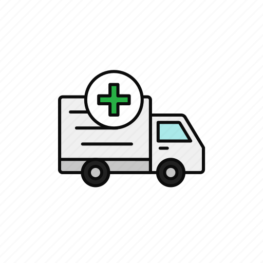 Add, delivery, medical, plus, shipment, truck icon - Download on Iconfinder