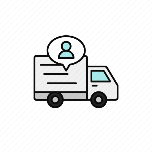 courier, delivery, driver, man, shipment, truck icon