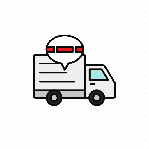 delay, delivery, jamming, shipment, traffic, truck icon