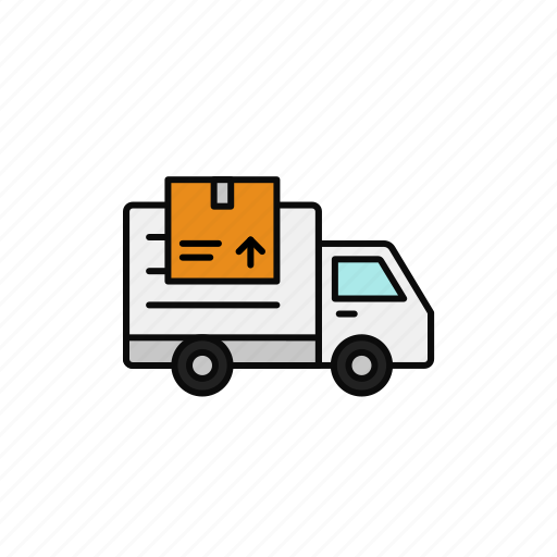 Cardboard, delivery, dropship, package, shipment, truck icon - Download on Iconfinder
