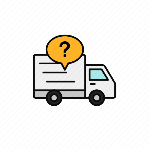 Delivery, help, info, question, shipment, truck icon - Download on Iconfinder