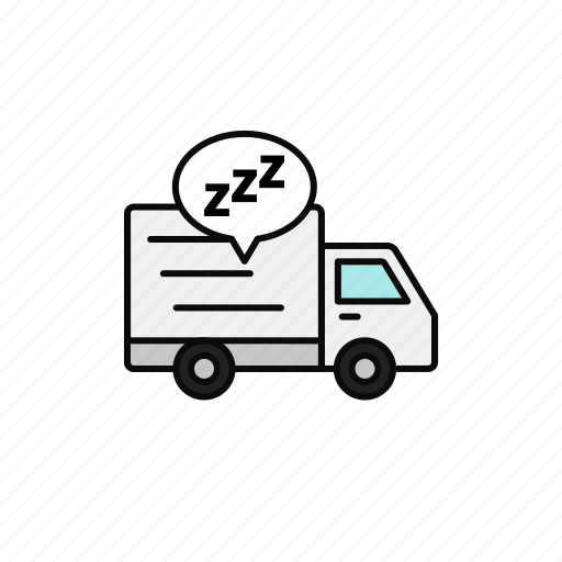 Break, delivery, night, shipment, sleep, truck icon - Download on Iconfinder