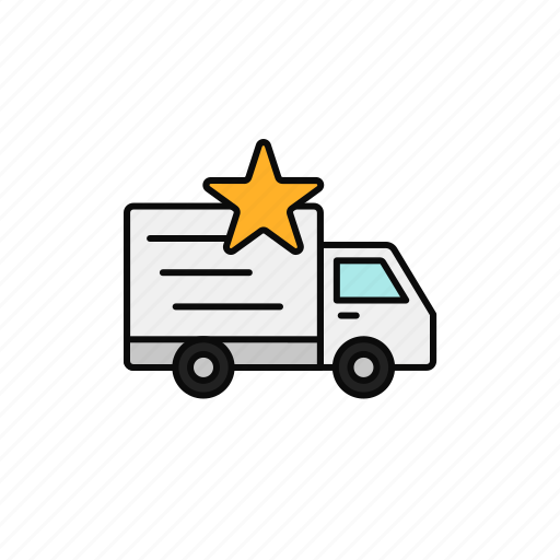 Delivery, favourite, priority, shipment, star, truck icon - Download on Iconfinder