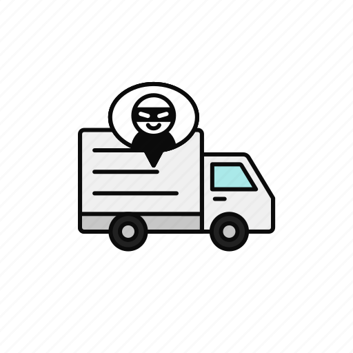 criminal, delivery, illegal, shipment, thief, truck icon
