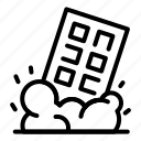 demolition, silhouette, person, house, logo, business, man icon