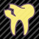 broken, tooth