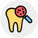 dirt, dental, stomatology, dentist, microbe, magnifier, check up