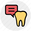 chat, dental, dental care, dentistry dialogue, health, stomatology icon
