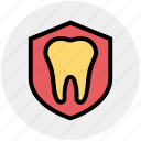 dental, dentistry, healthy, insurance, protection, shield, stomatology icon