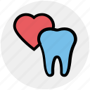 care, dental, dental heart, heart, love, stomatology, tooth icon