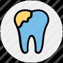 dental, dental care, dental protection, dental repair, hygiene, stomatology, tooth icon