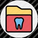 dental, folder, healthcare, stomatology, teeth