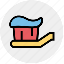brush, dental, hygiene, tooth paste and brush, toothbrush, toothpaste icon
