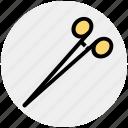 dental, dentist, medical, metal, needle, scissor, tool icon