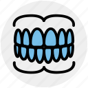 care, dental, dentistry, gums, oral, stomatology, teeth icon