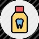 dental, drug, jar, medicine bottle, pills, syrup, tablets icon