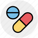 capsule, drug, medications, medicines, pills, tablets icon