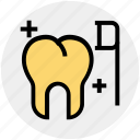 brush, cleaning, dental, dentist, teeth, tooth, toothbrush icon