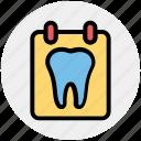 board, dental, list, stomatology, teeth, test, treatment icon