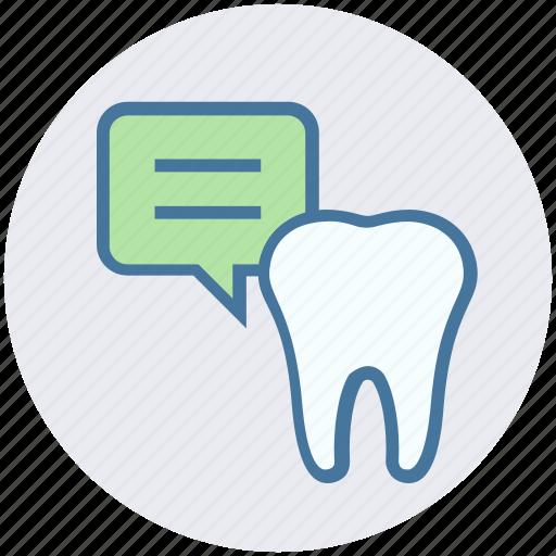 chat, dental, dental care, dentistry dialogue, health, stomatology icon