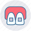 braces, dental, dentist, mouth, stomatology, teeth icon