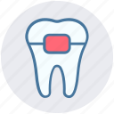 braces, dental, healthcare, protection, stomatology, teeth braces icon