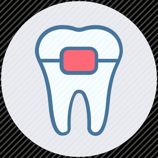 braces, dental, healthcare, protection, stomatology, teeth braces icon
