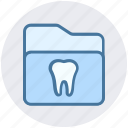dental, folder, healthcare, stomatology, teeth icon