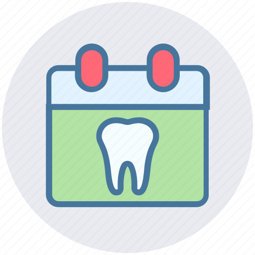 appointment, calendar, clinic, date, dental, dentist icon