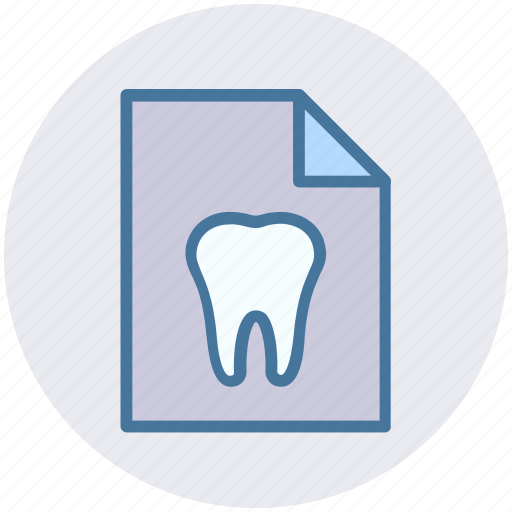 care, case, dental, paper, record, tooth icon