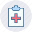 care, case, clinic, dentist, paper, record icon