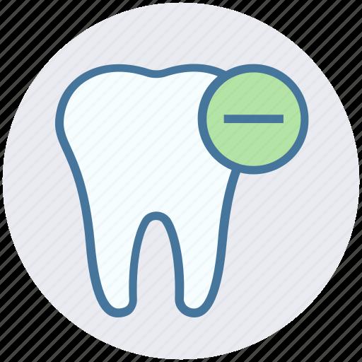 care, dental, hum, minus, remove, tooth icon