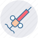 healthcare, hypodermic, injecting, injection, syringe, vaccine icon