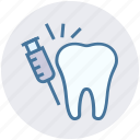 dental, dentist, drug, injection, syringe, vaccine icon