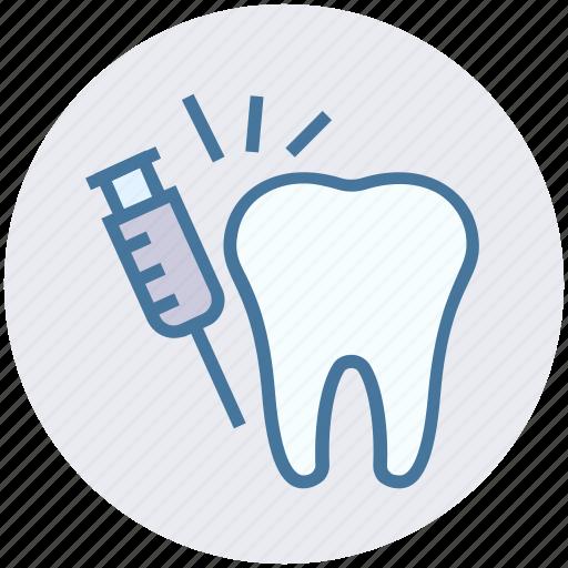 dental, dentist, drug, injection, syringe, vaccine icon