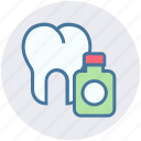 bottle, dental, dentist, teeth, tooth, tooth in bottle icon