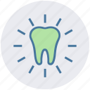bright, dental, dental care, dentist, tooth, white tooth icon