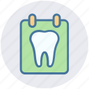 board, dental, list, stomatology, teeth, test icon