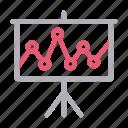 analytic, board, chart, dental, presentation icon