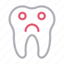 dental, oral, sad, teeth, tooth icon