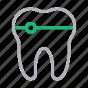 anatomy, braces, dental, oral, teeth icon